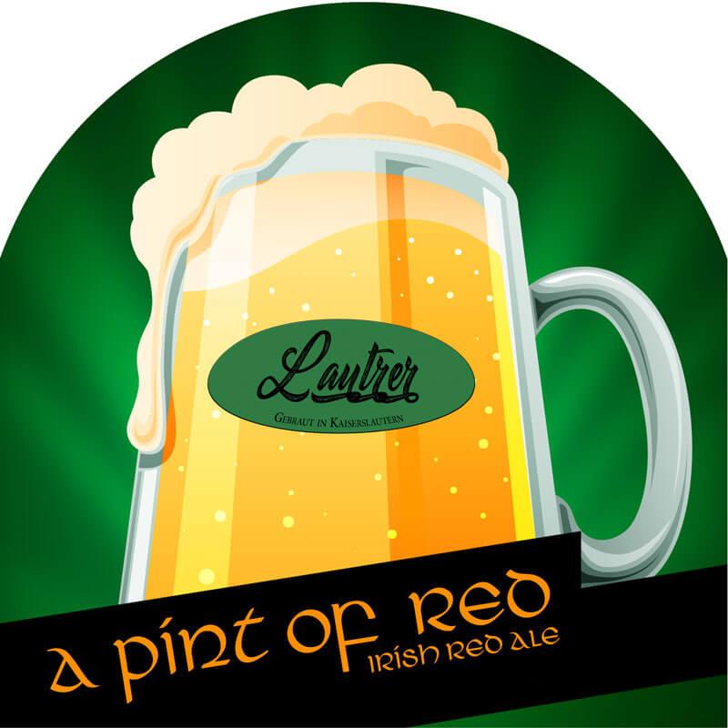A Pint Of Red Lautrer Bier